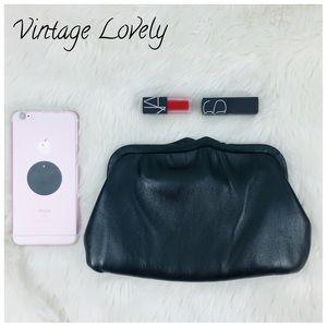 Vintage 100% Leather clutch/shoulder Bag Andy' 50s